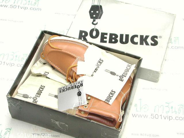 New Roebucks Spice tan boot หนัง made in China ปี 2000 size 8 .5 9
