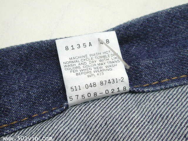 New ลีวาย Jacket 57508 0218  6กระเป๋า USA ปี 1998 ไซส XXS 5