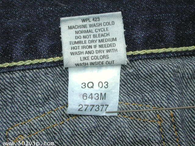 เหมือนใหม่ ลีวาย Jacket big E เด็ก LVC 507 xx USA ปี 2003 ไซส 1 Y 6
