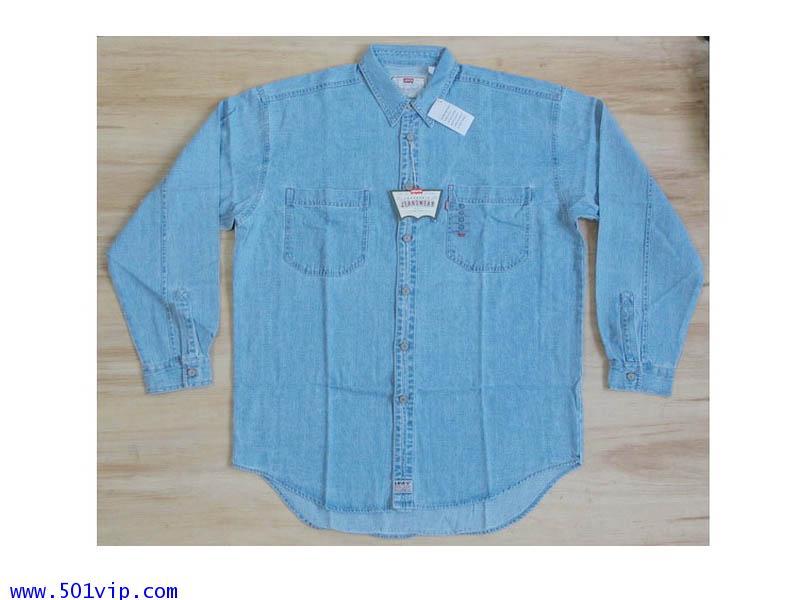New shirt ลีวาย สีฟ้า 1996 ไซส L ถึง XL