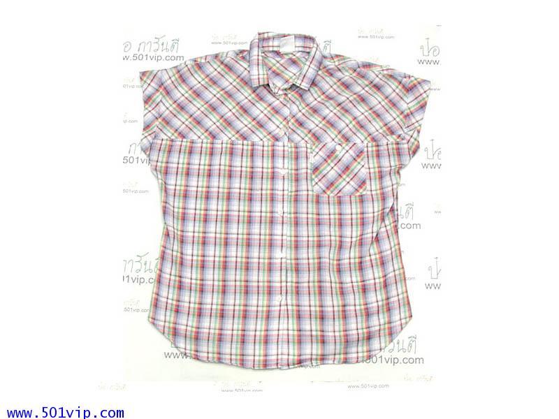 Used shirt ลีวาย ป้ายขาว ผ้าบาง แขนกุด USA ปี 1980 ไซส M