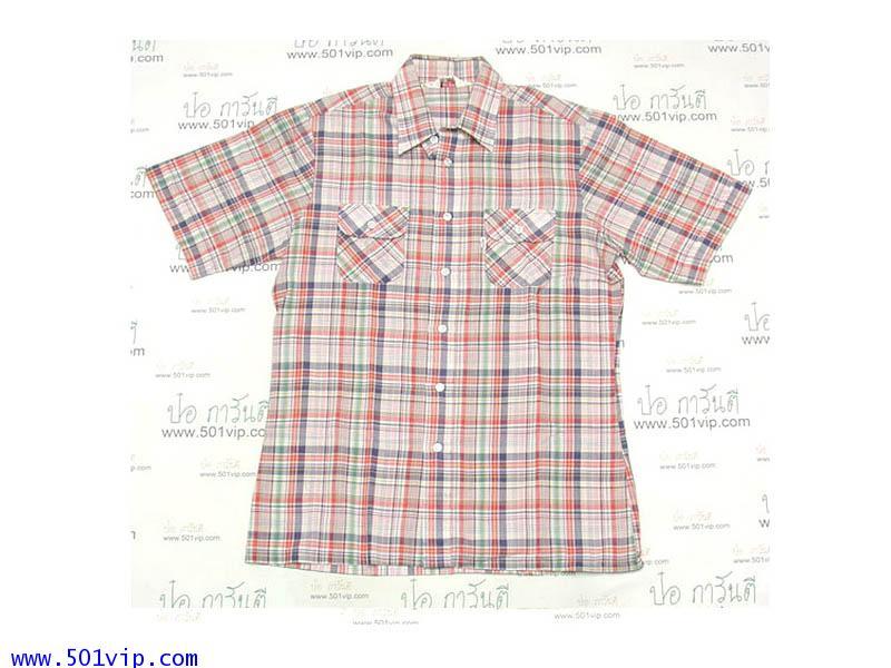 เหมือนใหม่ shirt ลีวาย ป้ายขาว big e ผ้าบาง ปี 1970 ไซส L