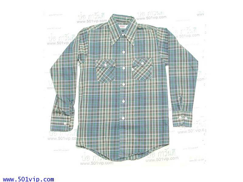 New shirt ลีวาย คนแบกอาน ป้ายขาว ผ้าบาง ปี 1975 ไซส XS