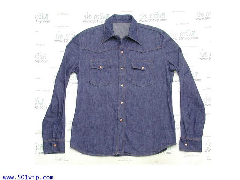 Used shirt ลีวาย ยีนส์ made in Taiwai ปี 1976 ไซส XL