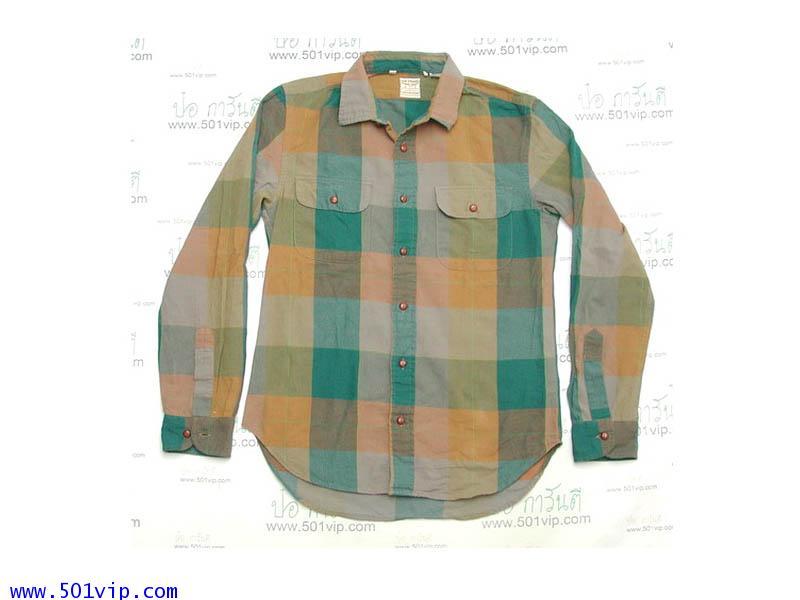 Used shirt ลีวายย้อนยุค กระโหลก made in Italy ผลิตปี 2013 ไซส S