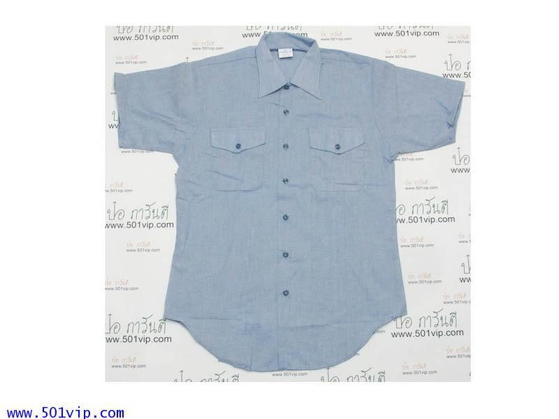 New shirt Seafarer ผ้าบาง chambray USA ปี 1989 ไซส M