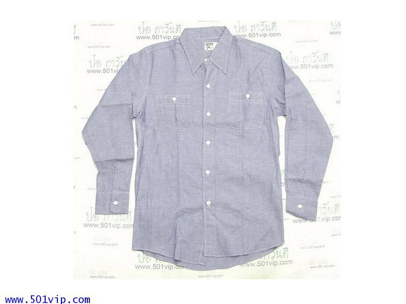 New shirt Chambray Montgomery WARD ปี 1970 ไซส S