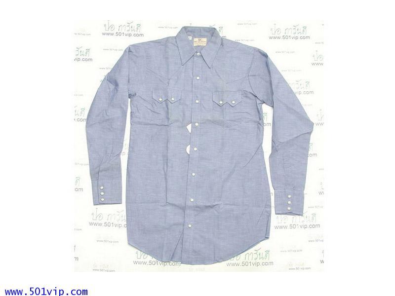 New shirt Chambray DEE CEE USA ปี 1970 ไซส 15 ครึ่ง หรือ M ยาวพิเศษ