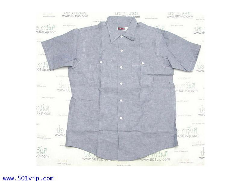 New shirt Chambray BIG MAC แขนสั้น ปี 1980 ไซส 17 .5 หรือ XL