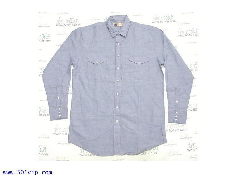 New shirt Chambray BIG MAC ปี 1990 ไซส L แบบยาวพิเศษ