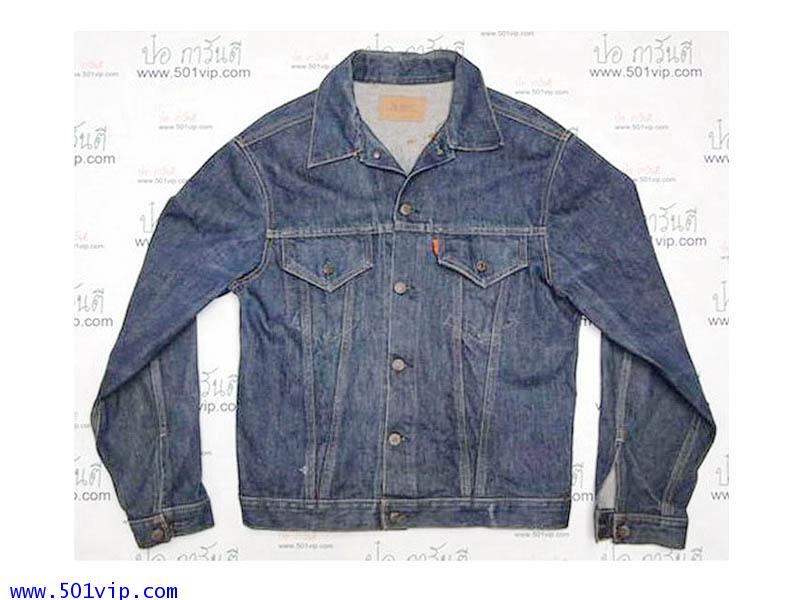 Used ลีวาย Jacket big E 70505 0217 ป้ายส้ม USA ปี 1967 ไซส 46 หรือ XL