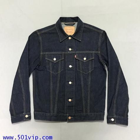 Used ลีวาย Levi\'s jacket กระดุมทองดุม ริมแดง USA ปี 2014 size L