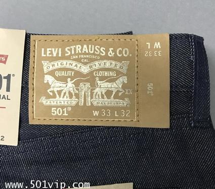 New LEVI 501 xx ประกายทอง ดุมทอง ปี2018 W 33 L 32 จะหด เอว 33 ยาว 30 .5 3