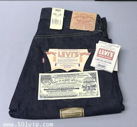 New LVC 1955 501XX big E 555 USA ปี 1997 W 34 L 34 จะหดเอว 33 ยาว 29 9