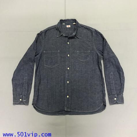 ไซส XL shirt ลีวาย LVC Chambray Sunset 60485 0006 USA ปี2011