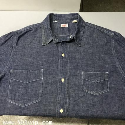 ไซส XL shirt ลีวาย LVC Chambray Sunset 60485 0006 USA ปี2011 2