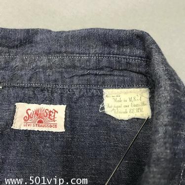 ไซส XL shirt ลีวาย LVC Chambray Sunset 60485 0006 USA ปี2011 4