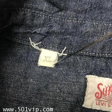 ไซส XL shirt ลีวาย LVC Chambray Sunset 60485 0006 USA ปี2011 5
