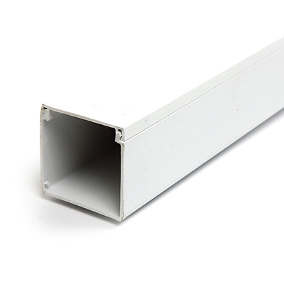 รางเก็บสาย รางร้อยสายไฟ  รางพีวีซี รุ่น 6060 สีขาว  ยาว 2เมตร