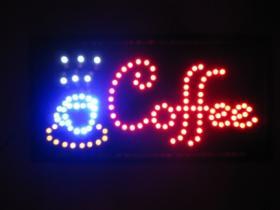 ป้ายไฟ ป้าย LED ใช้โชว์หน้าร้าน COFFEE