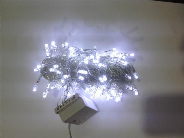 LED 100หัว กระพริบได้ แสงขาว