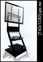 ขาแขวน ทีวี LCD พร้อมชั้นวางดีวีดี 2ชั้น LCD285 รับทีวีได้ 30-42นิ้ว
