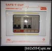 ตู้ไฟ,ตู็คอนซูเมอร์ 4ช่อง พร้อมเมนส์16A และลูก2ตัว  ครบชุด เซฟทีคัท Safe T cut