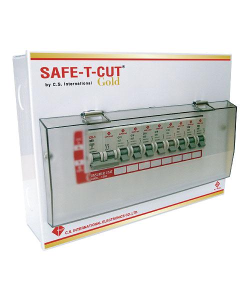 ตู้ไฟ,ตู้คอนซูเมอร์ 12ช่อง พร้อมเมนส์50A ลูก6ตัว ครบชุด เซฟทีคัท Safe T cut