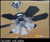 พัดลมโคมไฟ SE01 ขนาด30นิ้ว 3โคม  สินค้านำเข้า รับประกัน1ปี WIN
