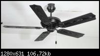 พัดลมโคมไฟ ฺB32 สีดำ 52นิ้ว 5ใบพัด พลาสติกABS WIn รับประกัน1ปี