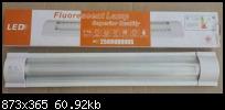 โคมนีออนติดเพดาน LED 2x18W FSL แสงขาว ครบชุด ฝาครอบอะคิลิคสีขาว รับประกัน 1ปี