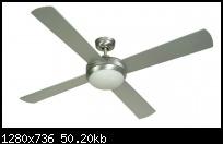 พัดลมโคมไฟ G04 52นิ้ว สีอลูมิเนียม 4ใบพัดไม้อัดแท้ ขั้วE27 คุมด้วยสวิทซ์ผนัง WIN