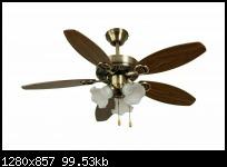 พัดลมโคมไฟ E02 สีรมดำ 42นิ้ว รับประกัน 10 ปี WIN 1