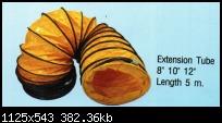 ท่อผ้า ใช้กับ พัดลมโบเว่อร์  16นิ้ว ความยาว5เมตร