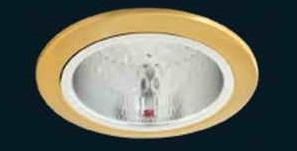 ดาวไลท์4นิ้ว ขอบทอง ถ้วยลายเพชร เจาะฝัง14ซม. ลึก16ซม.