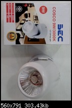 โคมไฟ สปอร์ตไลท์  9วัตต์ LED 9W แสงวอร์มไวท์  ของBEC