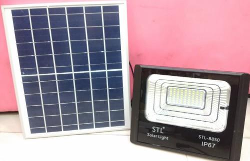 โคมไฟ สปอร์ตไลท์ พลังงานแสงอาทิตย์ LED   solarcell 100 วัตต์ แสงขาว รับประกัน1ปี