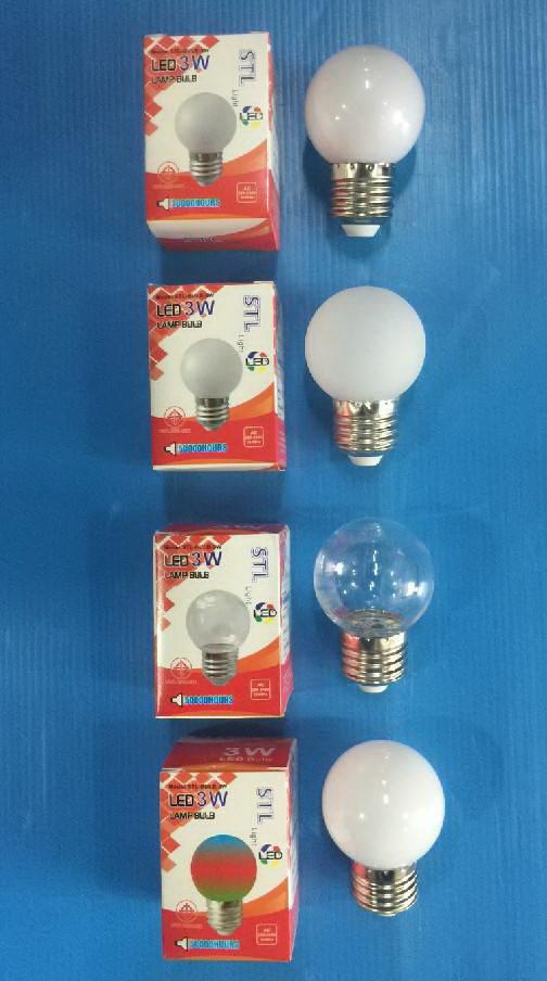 หลอดปิงปอง แอลอีดี LED 1วัตต์  แสงขาว เดย์ไลท์