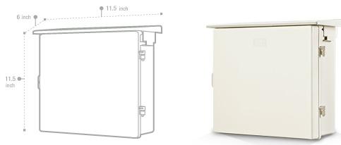 ตู้กันน้ำ พลาสติก เบอร์ 102  ขนาด29x32x16 cm. สีขาว