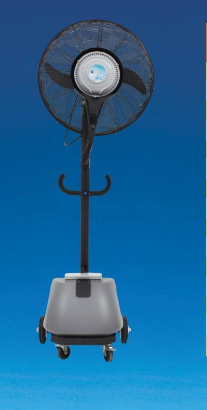 พัดลมไอน้ำ  24นิ้ว MISE24 เคลื่อนที่ได้  บรรจุน้ำ30ลิตร MASTER COOL