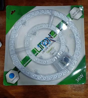 หลอดไฟ,หลอดวงแหวน LED 36วัตต์ LITON แสงขาว