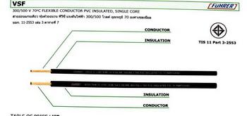 สายไฟ  สายคอนโทรล VSF 25 mm  สีดำ 100เมตร