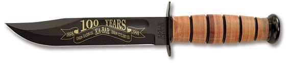 100th Anniversary KA-BAR, Leather Sheath