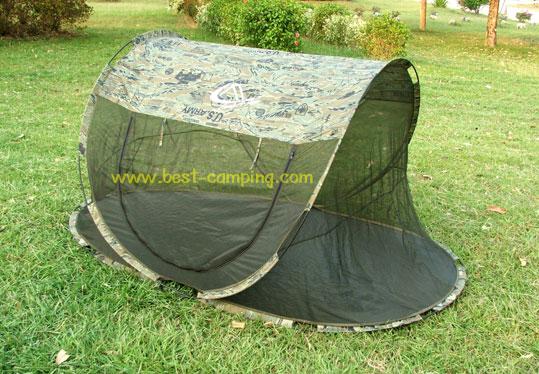เต็นท์สปริงมุ้งใหญ่,เต็นท์ลายทหาร,เต็นท์โยน,เต็นท์เข้าค่าย , POPUP TENTS Mosquitoes Tiger Size : L