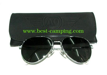 แว่นตานัก , แว่นตา AO GENERAL 58 x 14 x 145mm ORIGINAL PILOT SILVER CHROME/ (กรอบเงินโครเมี่ยม)