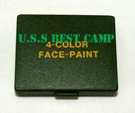 สีพรางหน้าแบบตลับสีเหลี่ยม 4 สี