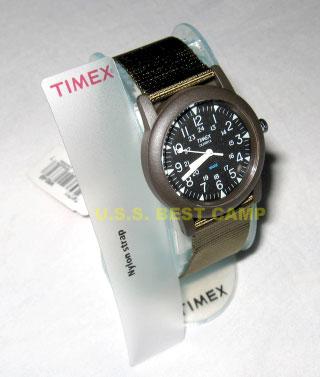 นาฬิกาทหารไทแม็กซ์สีเขียว.Timex Green US Military Watch