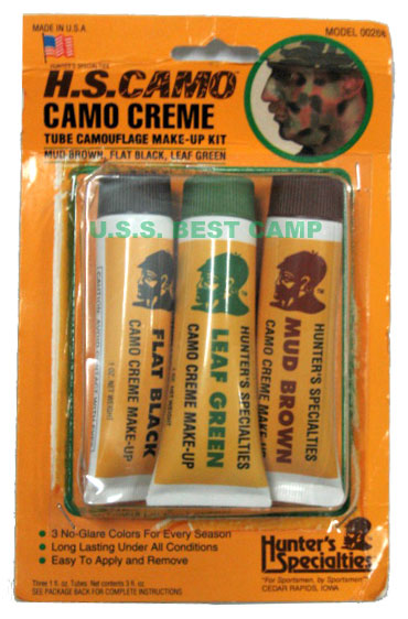 สีพรางหน้าทหารอเมริกา,H.S.CAMO CAMO CREME Camouflage Make-Up