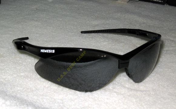 แว่นตาเซฟตี้ , แว่นตากันสะเก็ด , แว่นตา NEMISIS-19806 Safety Glasses, Black Frame,  Smoke Lens