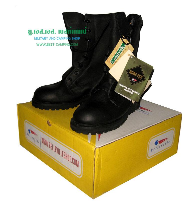 BELLEVILLE Goretex ICW Black Leather Boots
